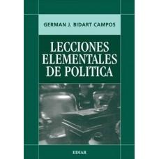Lecciones Elementales de Política