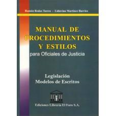 Manual de Procedimientos y Estilos para Oficiales de Justicia