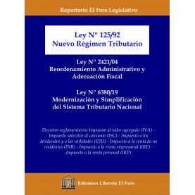 Ley  125/92 de Nuevo Régimen Tributario - Ley Nº 2421/04 de Reordenamiento Administrativo y Adecuación Fiscal