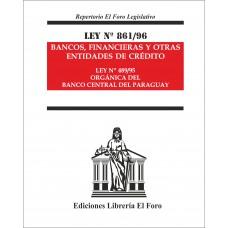 Ley Nº 861/96 Bancos, Financieras y otras Entidades de Crédito